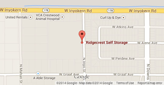 Contact us ridgecrest self storage quality storage for Ridgecrest storage units